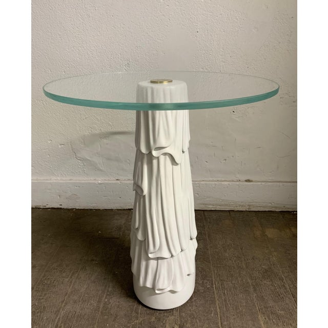 1980s Decorative Hollywood Regency Side Table For Sale - Image 5 of 5