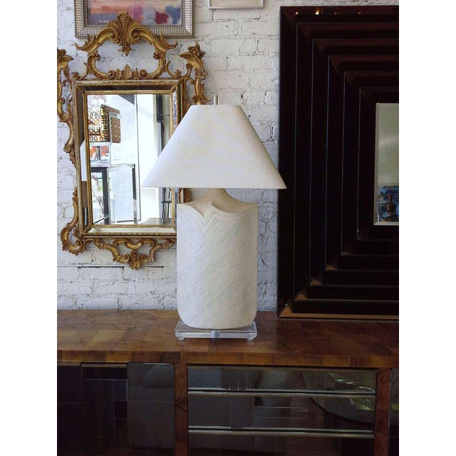 Casual Lamps of California Large Plaster and Lucite Lamp by Casual Lamps of California For Sale - Image 4 of 11