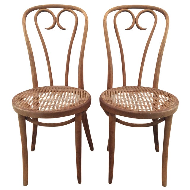 Vintage Bentwood Chairs - A Pair - Image 1 of 7