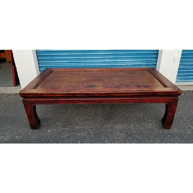 20th Century Asian Antique Monk Style Coffee Table For Sale - Image 13 of 13