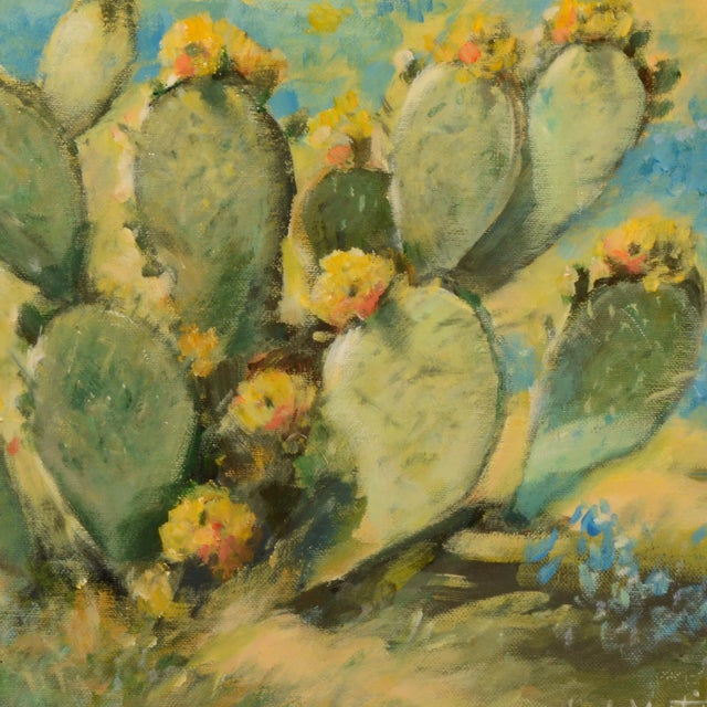 Salinas Cactus Framed Painting For Sale - Image 4 of 6