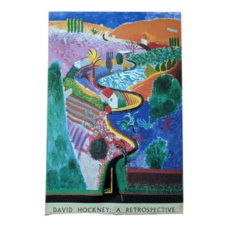 David Hockney 1988 Lithograph Print Metropolitan Museum of Art For Sale