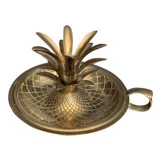 1960's Pineapple Brass Candlestick