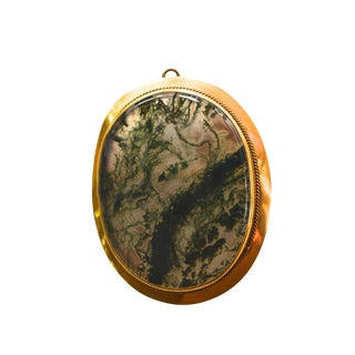 Victorian Agate Gold Filled Pendant/ Brooch For Sale