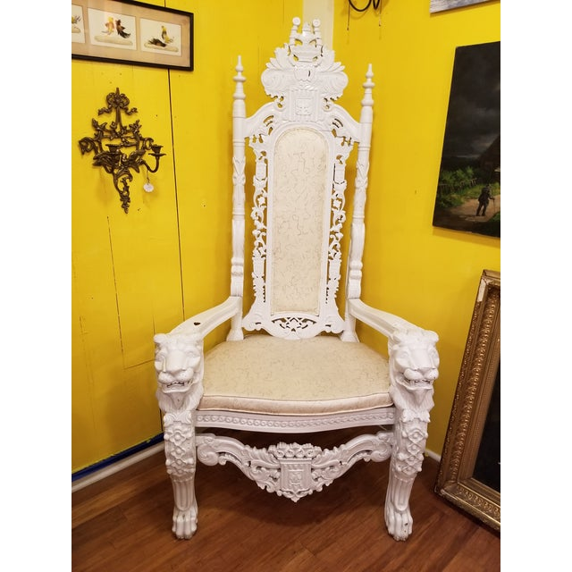 Wood 19th Century Antique Lion Chair For Sale - Image 7 of 11