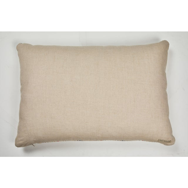 Indian Kantha Stitched Pillow For Sale - Image 4 of 5