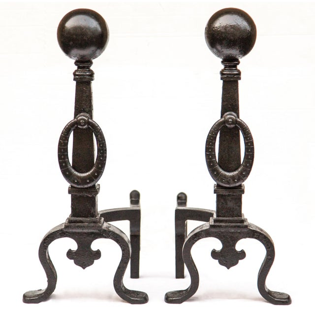Pair of 1890s Bradley & Hubbard Tall Andirons For Sale - Image 10 of 11