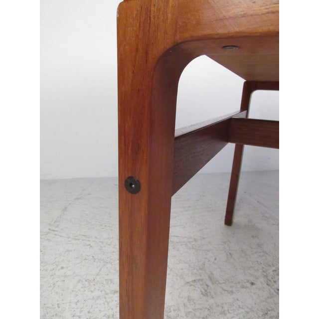 Brown Mid-Century Modern Teak Double-Sided Desk For Sale - Image 8 of 11