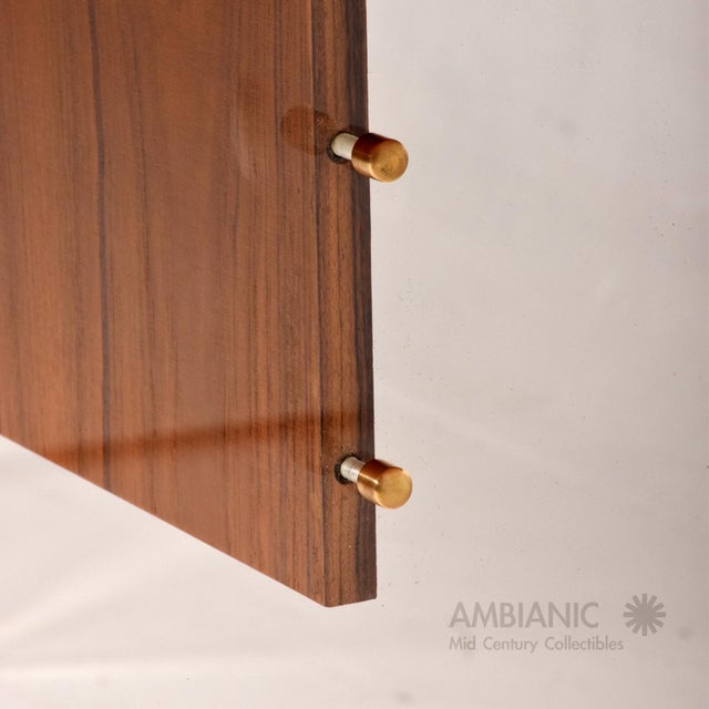 Mid-Century Danish Modern Teak and Lucite Dining Table For Sale - Image 4 of 8