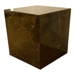 Universal Furniture Espresso Marble Cube For Sale