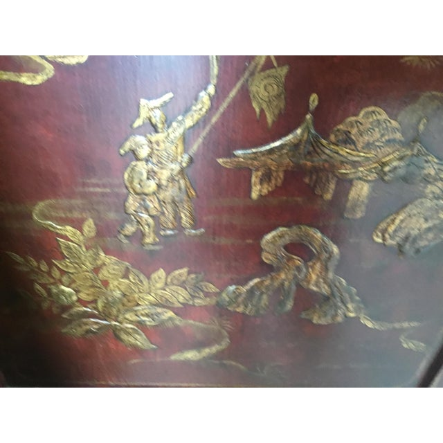 Wood Chinoiserie Cabinet For Sale - Image 7 of 12
