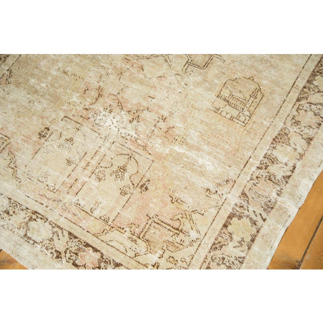 "Vintage Distressed Oushak Rug - 4' x 5'11"" - Image 6 of 10"