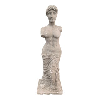 Italian Stone Female Statue For Sale