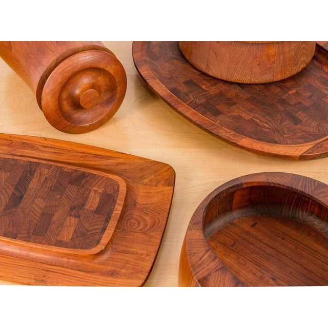 Assortment of early 1960s Jens Quistgaard for Dansk teak tableware, made in Denmark. All items are $400, individually....
