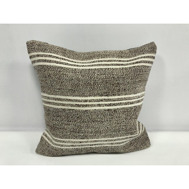 Primitive Traditional Turkish Antique Hand Woven Pillow Cover For Sale In Phoenix - Image 6 of 6
