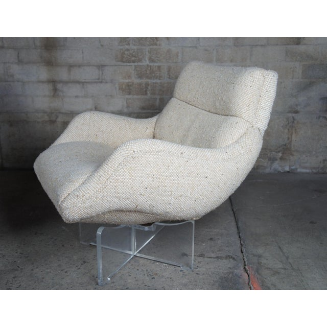 Textile 1960s Vladimir Kagan Cosmos Lounge Chairs- A Pair For Sale - Image 7 of 13
