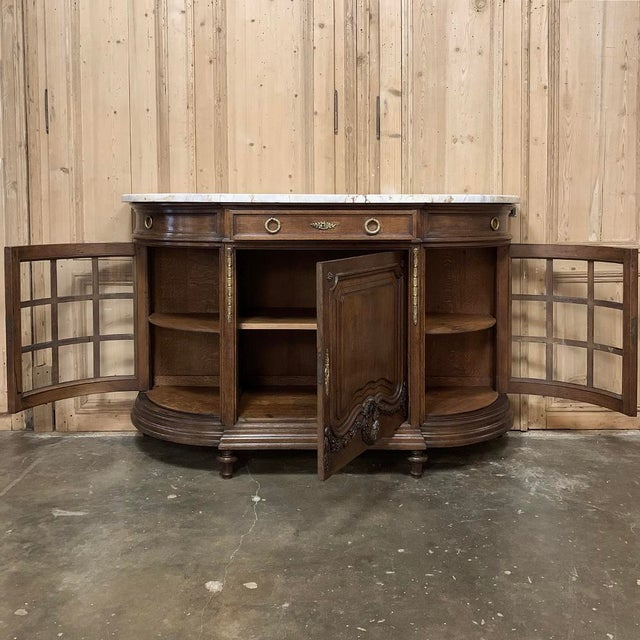 Late 19th Century 19th Century French Louis XVI Marble Top Display Buffet For Sale - Image 5 of 12