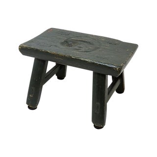 1880s Vintage Wood Milking Stool