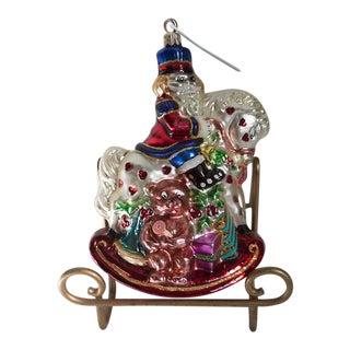 Christopher Radko Rocking Cracker Ornament For Sale