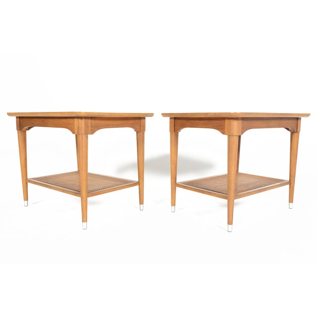 B.P. John Walnut Side Tables - a Pair - Image 4 of 10