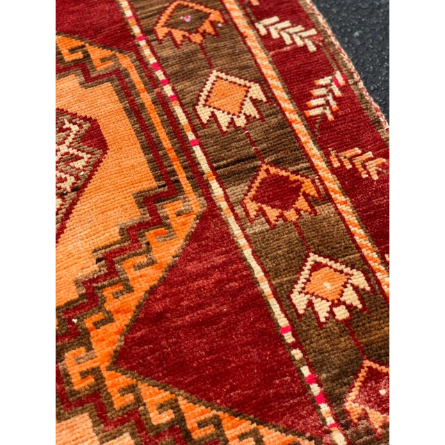 "1950's Vintage Turkish Anatolian Runner Rug - 3'2""x11'2"" For Sale - Image 9 of 13"