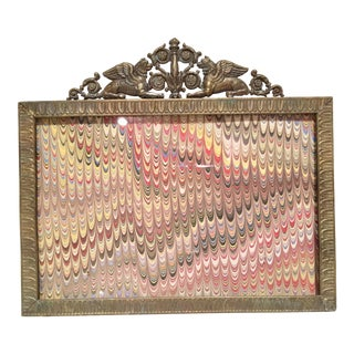 French Bronze Empire Photo Frame With Griffins For Sale