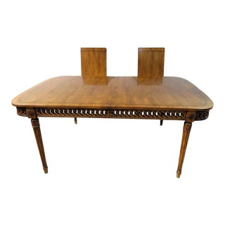 Vintage Mid Century Louis XVI Style Dining Room Table For Sale