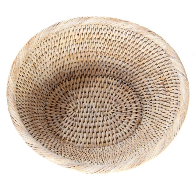 Artifacts Rattan Round Bowl For Sale - Image 4 of 6