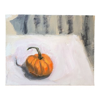 Original Contemporary Still Life Pumpkin Painting For Sale