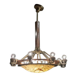 Danish Deco Chandelier For Sale