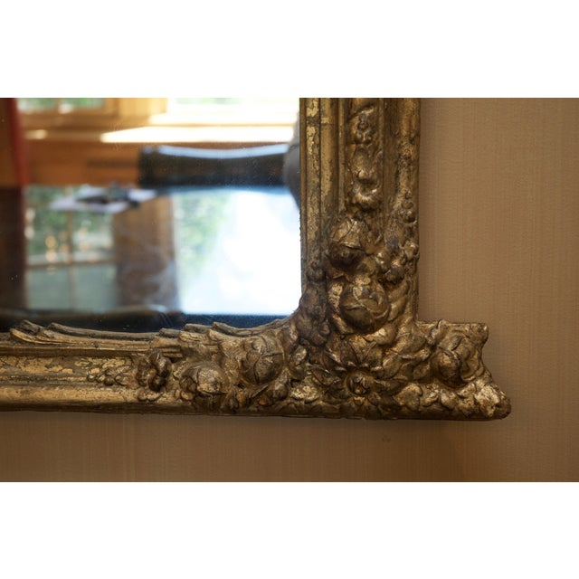 Roccoco Style Gilded Wood Mirror - Image 7 of 8