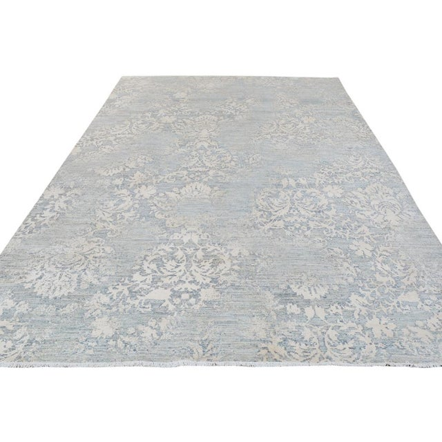 Kafkaz Peshawar Cole Gray & Ivory Wool Rug - 8'1 X 11'7 For Sale - Image 4 of 7