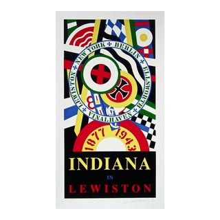 Robert Indiana Indiana in Lewiston 1991 For Sale