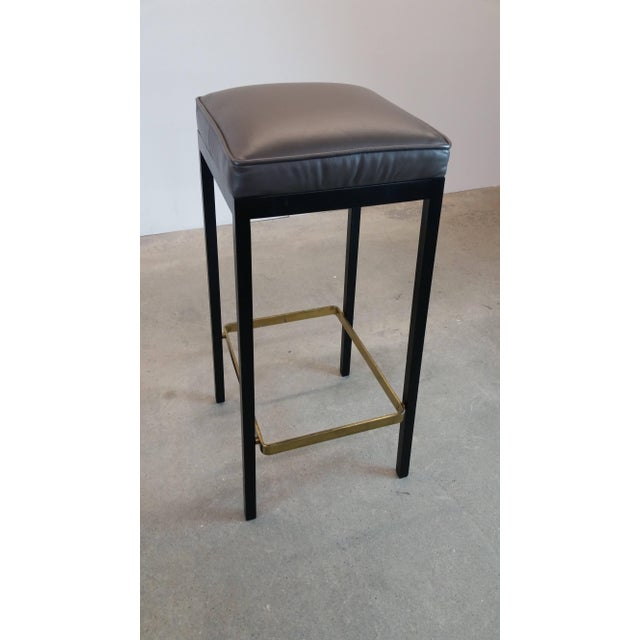 Early Bar Stools by Florence Knoll For Sale In Providence - Image 6 of 9