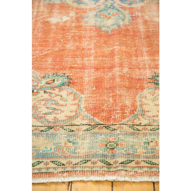 "1960s Vintage Distressed Oushak Carpet - 5'6"" X 9' For Sale - Image 5 of 10"