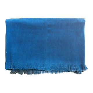 Tensira Solid Indigo Cotton Throw Blanket