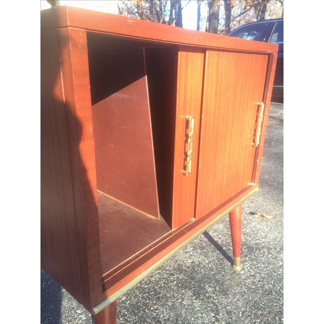 Mid-Century Style Record Cabinet - Image 4 of 5