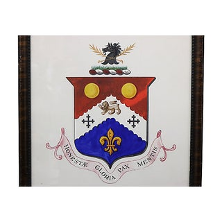 Antique English Coat of Arms Watercolor Preview