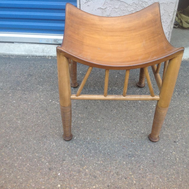 2010s Modern Mid Century Style Stool For Sale - Image 5 of 5