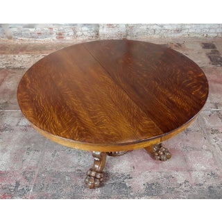 19th Century Traditional .j. Horner Antique Tiger Oak Pedestal Table Preview
