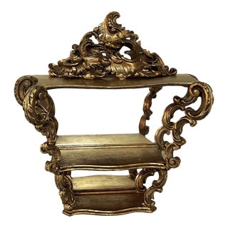 Italian Baroque Giltwood Wall Shelf For Sale