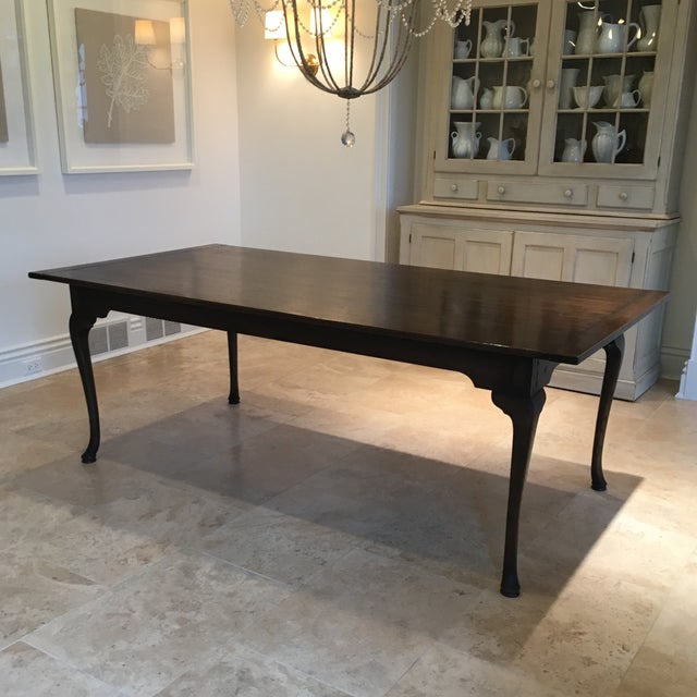 Custom English Oak Dining Table For Sale - Image 11 of 11