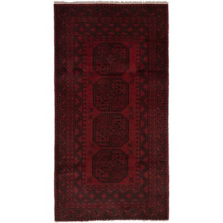 Late 20th Century Afghan Wool Rug - 3′3″ × 6′5″ For Sale