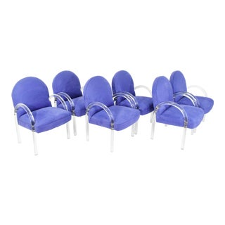 Set of Six Pace Collection Waterfall Dining Chairs