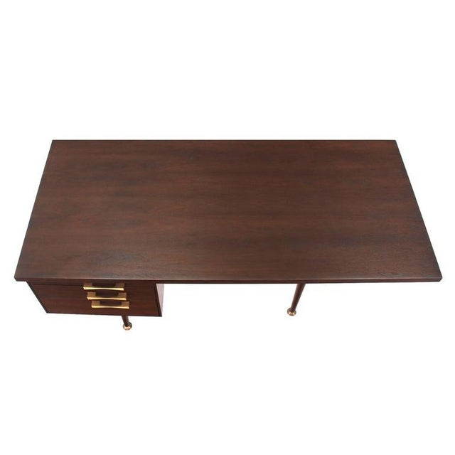 Early 20th Century Large Executive Three-Drawer Desk or Writing Table For Sale - Image 5 of 9