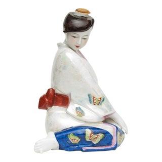 1950s Vintage Japanese Porcelain Sake Bottle or Figurine For Sale