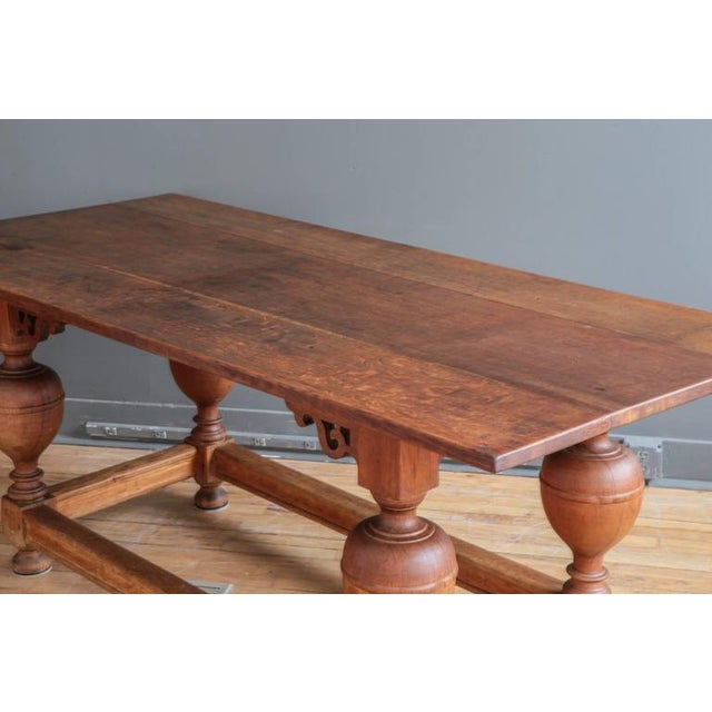 Oak Antique Jacobean Style Oak Refectory Table For Sale - Image 7 of 7