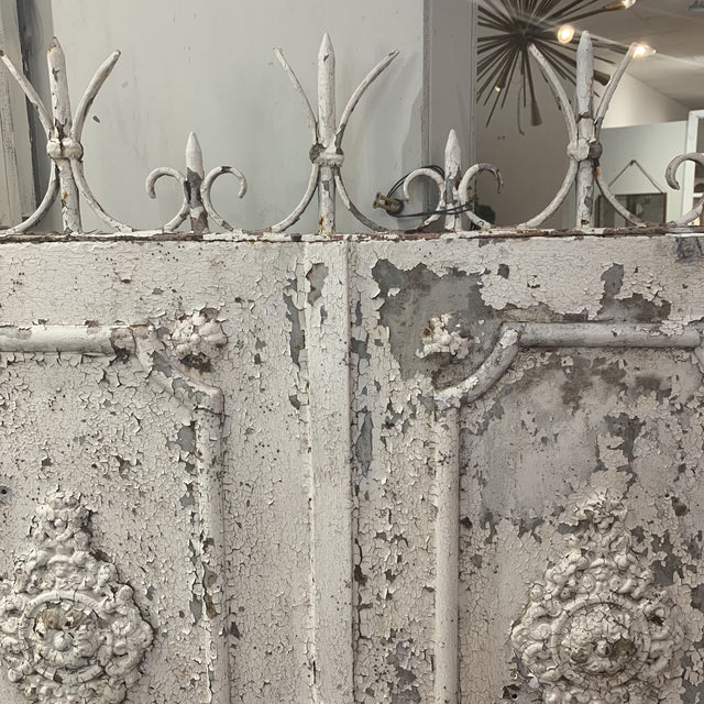 1880s Vintage French Decorative Garden Gate For Sale - Image 4 of 12