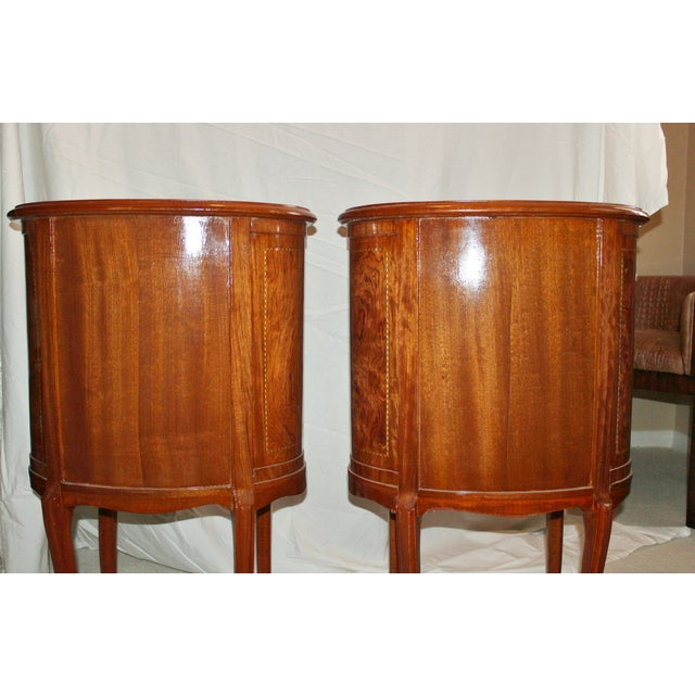 French Louis XVI Style Kidney Shaped Tables - A Pair - Image 8 of 11