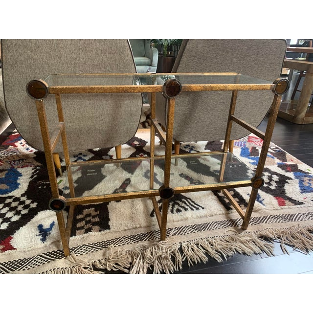 Small Brass Two-Tier Console For Sale - Image 10 of 10